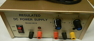 Regulated Dc Power Supply 3010 Output Of 1.5-15 Volts