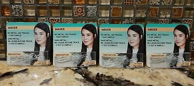 Lot of 4 INVISIBOBBLE WAVER The Traceless Hair Clip in Clear