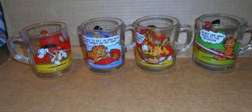 Garfield Glass Mugs McDonalds 1978