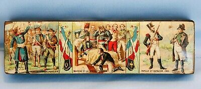 Rare 19th C French Pencil Box Napoleon Bonaparte Waterloo French Revolution