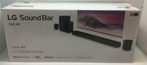 LG SNC4R 4.1 Channel Bluetooth Sound Bar with Rear Surround Speakers