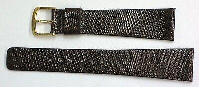 Seiko 20mm Brown Genuine Classic Lizard Authentic Watch Band Strap-NOS Brown Genuine Lizard Strap