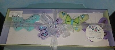 Green Butterfly Nursery Decorations - NoJo Beautiful Butterfly musical Mobile Nursery Decor purple, turquoise, green