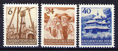 wwII GG Generalgouvernement Mi# I-III (*) REPRINT, Fälschung