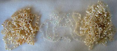Vintage Lot Molded Plastic Faceted Beaded Fringe 1/2