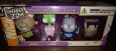 Invader ZIM GIR Dib Gaz Figureines...of DOOM!! Palisades Toy Figures NIB 2005
