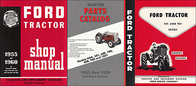 1957-1958-1959-1960 Ford 741 771 941 971 981 3 Manual Set Tractor Service Books