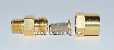 In-line Filter Brass 14 For Carpet Cleaning Wands Hoses Truckmount Portable