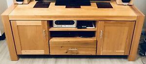 Quality mountain ash timber entertainment unit