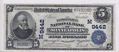 1902 Metropolitan National Bank Of Minneapolis Mn  5 Note Ch 9442 35392