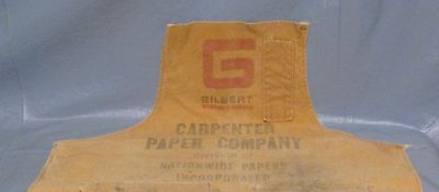Vintage GILBERT PAPER Carpenter Paper Company  Nail Apron Advertising used