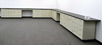 38' Laboratory Cabinets  / Chemistry Furniture Benches w/ Tops & Desks E1-527 for sale  Rockford