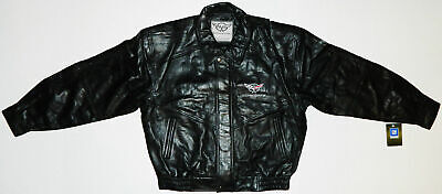Corvette Leather Bomber Jackets (Chevy Corvette C5 Leather Bomber Jacket Official GM Licensed *NEW*)