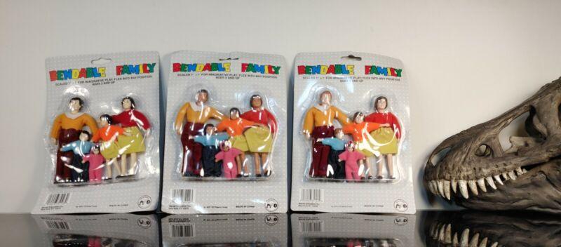Rare Vintage Dollhouse Dolls Marvel Education Bendable Asian Hispanic Family