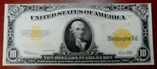 1922 $10 Gold Certificate Fr 1173 XF Condition - bocex