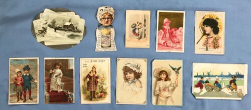 Antique Advertising Trade Cards Fleischmann Co. Calendar Fake Remedies 1800s