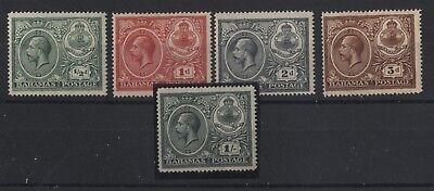Bahamas 1920 Giorgio V nuovi linguellati MH (N712)