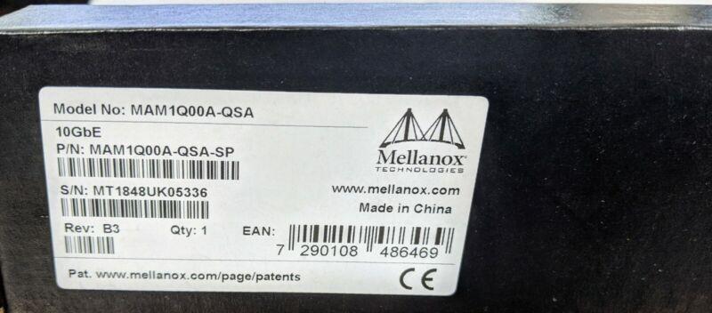 Lot of 2 Mellanox Qsfp To Sfp+ MAM1Q00A-QSA-SP