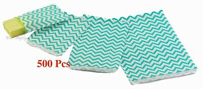 Flat Paper Bags (Lot of Party Gift Bags Paper Merchandise Bags Teal Flat Gift Bags Lot 500-)