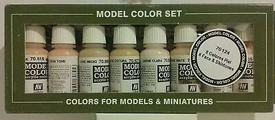 Vallejo Face and skintones acrylic paint set