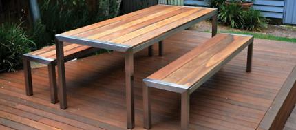 stainless steel/Aluminium outdoor furniture  Cafes Restaurants
