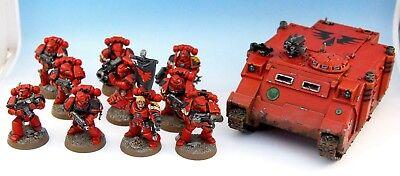 Warhammer 40K Blood Angels Tactical Squad + Rhino PRO PAINTED segunda mano  Embacar hacia Spain