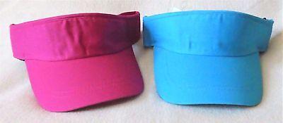 Golf Visor Für Damen (Sonnenschild/Visor-Lauf/Golf/Tenniscap für Damen und Herren 100% Baumwolle Klett)