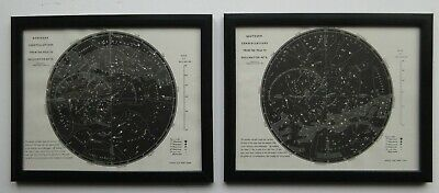 A fine pair of framed prints Constellations c1891 by T. A. Hull