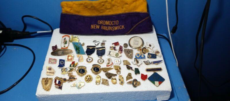Vintage Mixed Lot LIONS CLUB, AMERICAN LEGION, And PATRIOTIC PINS 1953-2006