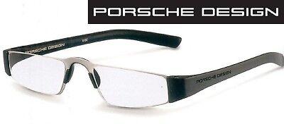 Porsche Design P 8801 A schwarz/silber +1,0 bis +4,0 Lesebrille Computerbrille  Brille Computer