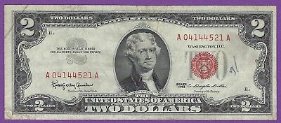 2 00 United States Note   1963   Granahan Dillon   A04144521a