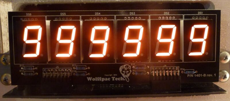 5X 6-Digit DIY Display Kits for Bally/Stern Pinballs - Wolffpac - Orange digits