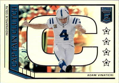 2018 Donruss Elite Football Captain Clutch Insert Singles (Pick Your Cards)