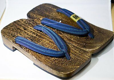 [Japan Made] Geta Paulownia Wood Mens Sandal Traditional Footwear 30cm 1575