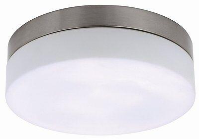 Chrom Wandleuchte Lampe (Deckenleuchte Wandleuchte Deckenlampe Lampe Metall Glas 2 X E27 Chrom Weiß)