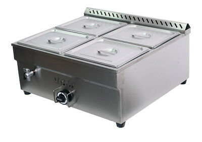 27.4in 4-pan Propane Bain-marie Buffet Food Warmer Steam Table 1warmer412pan