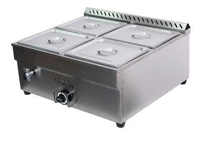 Lp Gas 4 Pan Propane Bain-marie Buffet Food Warmer 27 Steam Table 12pan