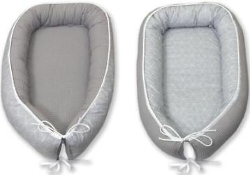 MamaLoes Amy Wafel Cubic Light Grey Omkeerbaar Babynest 6...