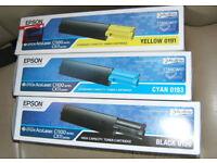 Epson Original Colour Laser Toner Cartridges 3X for AccuLaser C1100 and CC11 series NEW