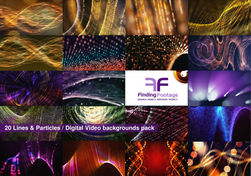 Combo 9 Packs / 131 Digital video backgrounds / Download / Vj loops stock video