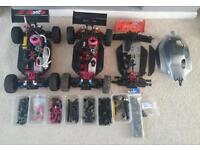 Thunder tiger eb4 s2 Nitro rc car and 2 others for spares