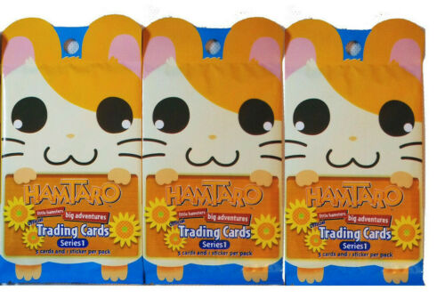 2002 ARTBOX * HAMTARO * LITTLE HAMSTERS SERIES 1 TRADING CARDS * LOT OF 3 PACKS*