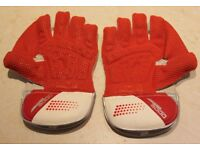 Unused Boy's Wicket Keepers Gloves + carrying bag