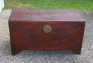 Carved Chinese Camphor Chest, Vintage 1950s Large Size Smithfield Cairns City Preview