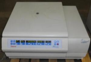 Thermo Sorvall Legend RT+ RT + Plus Refrigerated Cooled Benchtop Lab Centrifuge w/ rotor & buckets