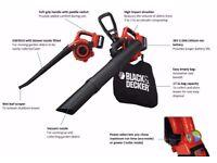 £80 Black & Decker GWC3600L 36v Cordless Garden Vacuum & Leaf Blower 1 x 2ah Li-ion