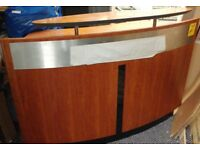 Good Quality Reception Desk, Office Counter Large Heavy Wooden Curved £200.00 ono
