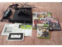 Xbox360 plus kenect , and games,