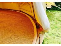 *EXCELLENT QUALITY 5m FULL CIRCLE COIR MATTING FOR A BELL TENT