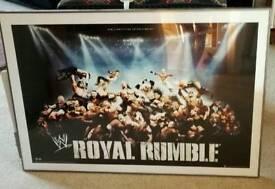 Large Framed WWE Royal Rumble Print